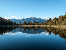 Mirror lake in New Zealand Royalty Free Stock Image