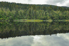 Mirror lake reflection Stock Image