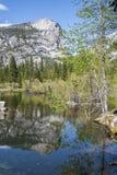 Mirror Lake reflection, Yosemite national park, USA Stock Photos
