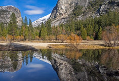 Mirror lake reflections Royalty Free Stock Images