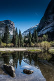 Mirror Lake in Yosemite National Park Royalty Free Stock Photo