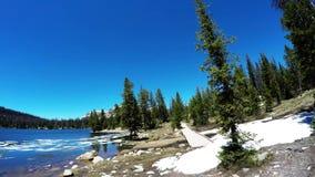 Mirror Lake Timelapse Hike Uintas UT USA stock footage