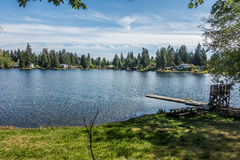 Mirror Lake 2. A view of Mirror Lake in Federal Way, Washington Royalty Free Stock Photography