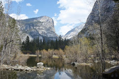 The mirror lake of Yosemite Stock Image