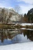 Mirror Lake in Yosemite royalty free stock image