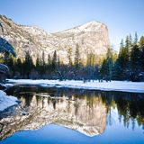 Mirror Lake in Yosemite National Park Royalty Free Stock Photography