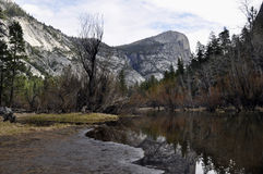 The Mirror lake of Yosemite Valley Royalty Free Stock Image