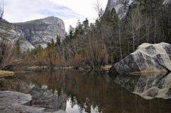 The Mirror lake Yosemite Valley Stock Photo