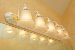 Mirror Lighting. Nice lighting above a mirror Royalty Free Stock Image