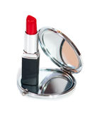 Mirror and lipstick Royalty Free Stock Images