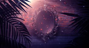 Free Mirror Magic, Fortune Telling And Fulfillment Of Desires. Stock Photos - 162176823