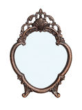 Mirror in a metal frame flower Stock Photography