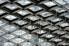 Mirror and metal structure Stock Photo