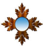 Mirror, Mirror. Illustration of an ornate wood-framed mirror isolated on white Stock Image