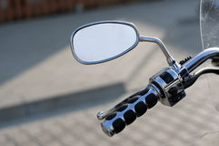 Mirror of motorbike Stock Photography