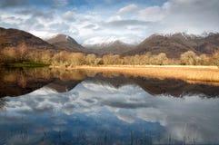 Mirror of mountain lake Stock Image