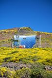 Mirror observatory. Roque de los Muchachos observatories at La Palma Canary Islands Spain Stock Photography