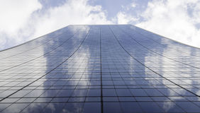 Mirror office building. Steel and glass office building Royalty Free Stock Photos