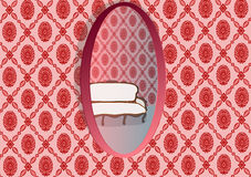 Mirror Oval Royalty Free Stock Images