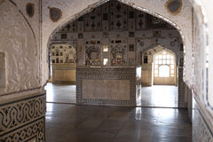 Mirror Palace at Amber Fort in Jaipur Royalty Free Stock Photography