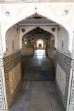 Mirror Palace. Amer Palace (or Amer Fort). Jaipur. Rajasthan. India. Amer Palace or Amer Fort is located in Amer, 11 kilometres from Jaipur, Rajasthan state Royalty Free Stock Photo