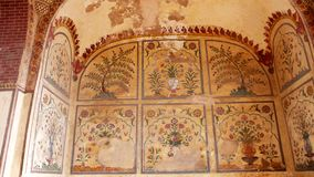 Mirror Palace murals. In lahore Fort Royalty Free Stock Photography