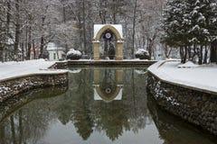 Mirror Pond In Pleasure Resort Kislovodsk Royalty Free Stock Photos