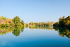 Mirror pond. Royalty Free Stock Photography