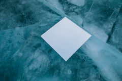 Mirror on pure ice Royalty Free Stock Photos