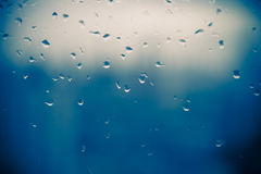 Mirror with rain drop in building Stock Photography