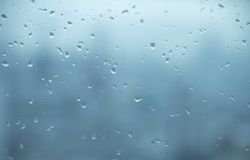 Mirror with rain drops background Stock Image