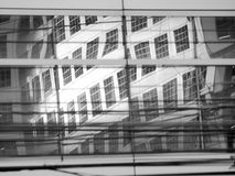Mirror reflect city town Royalty Free Stock Images