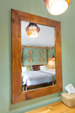 Mirror reflection bedroom Stock Image