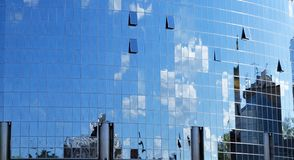 Mirror reflection of sky and clouds Royalty Free Stock Photo