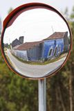 Mirror reflection of the transit Stock Photography