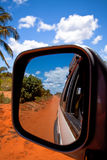 Mirror on the Road Stock Photo