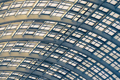 Mirror roof of hall with sunlight Royalty Free Stock Photo