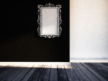 Mirror in a room, rendering Royalty Free Stock Images