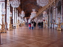 Mirror Room - Versailles Palace. France - Europe royalty free stock photography