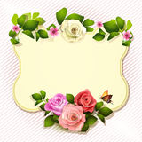 Mirror with roses Royalty Free Stock Photos