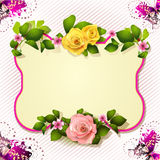 Mirror with roses Royalty Free Stock Images
