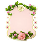 Mirror with roses Royalty Free Stock Photo