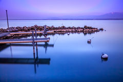 Mirror's湖 库存照片