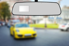 Mirror's car . Stock Photo