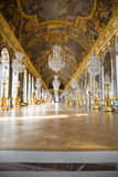 Mirror's hall of Versailles Chateau. One of the most famous halls from Versailles Chateau. France series Stock Photos