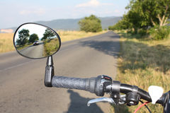 Mirror for safer cycling Royalty Free Stock Photography