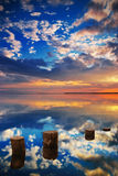 Mirror Sea Royalty Free Stock Photo