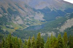 Mirror Seeform ein Abstand Tin Cup, Colorado Stockfoto