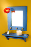 Mirror with shelf Royalty Free Stock Images