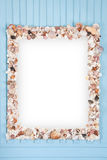 Mirror Shellfish decoration frame Stock Photo